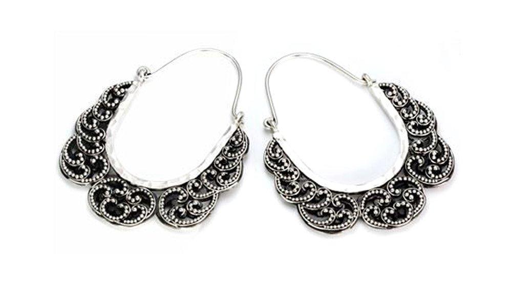 Elementals Organics .925 Sterling Silver 16g Bali Drop RAKSASA Earrings - Price Per 2
