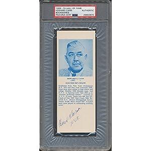 1968 74 Hof Bookmarks Howard Cann PSA/DNA Certified Certified Certified Autographed *3974