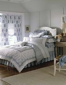 Laura Ashley Sophia Collection Queen Comforter Set