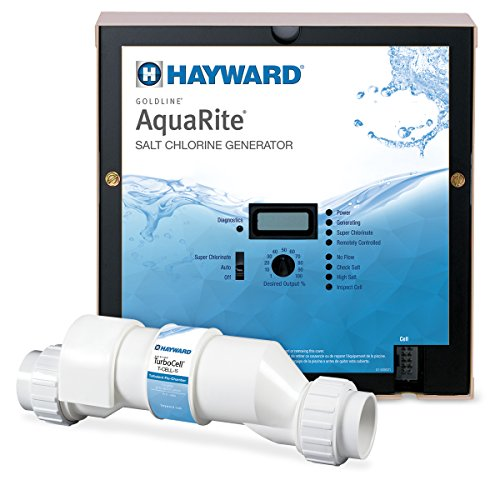 (Hayward Goldline AQR15 AquaRite Electronic Salt Chlorination System for In-Ground Pools ,  40,000-Gallon Cell)
