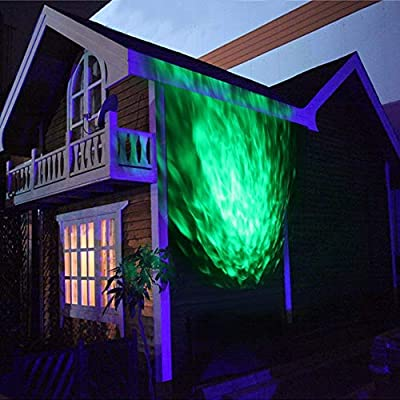 Water Wave Laser Lights Projector - Outdoor Waterproof LED Ripple Garden Lights RGBW 10 Colors Water Effect with Remote for Christmas Halloween Garden Indoor Wedding Party Holiday Disco Kids