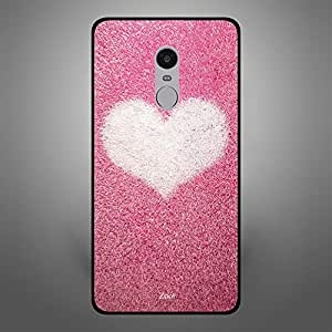 Xiaomi Redmi Note 4 Pink with white heart