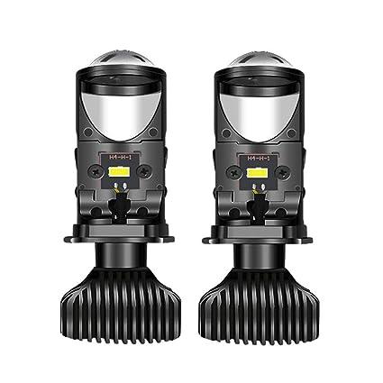 Heinmo H4 - Bombillas LED para faros delanteros con lente mini ...