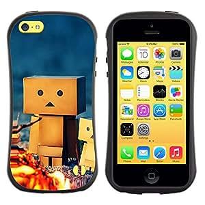 Paccase / Suave TPU GEL Caso Carcasa de Protección Funda para - 3D Figurine Friendship Camping Play Art - Apple Iphone 5C