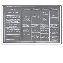 Dry Erase Magnet Weekly Calendar Gray Chalkboard