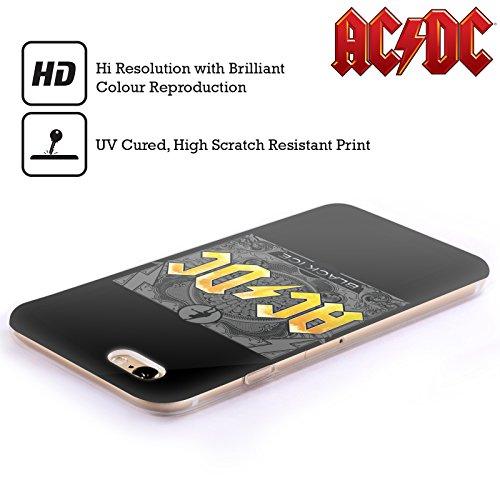 Officiel AC/DC ACDC Verglas Titres De Chanson Étui Coque en Gel molle pour Apple iPhone 6 Plus / 6s Plus