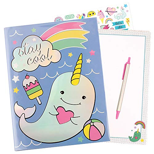 (Fashion Angels 77412 Stay Cool Narwhal Stationery Stationary Set, Multi)
