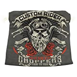 Dragon Sword Vintage Biker Skull Gift Bags Jewelry Drawstring Pouches for Wedding Party, 12.6x17 Inch
