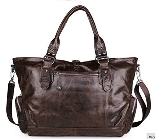 de piel auténtica mano bolsa nuevo hombro piel bolso de de Hobo bolso loyofun ZnCBx