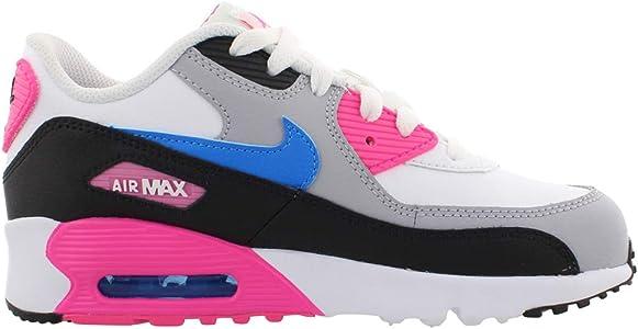 Nike Air MAX 90 LTR (PS), Zapatillas de Running para Asfalto para Niñas, Multicolor (White/Photo Blue/Black/Pink Blast 107), 35 EU: Amazon.es: Zapatos y complementos