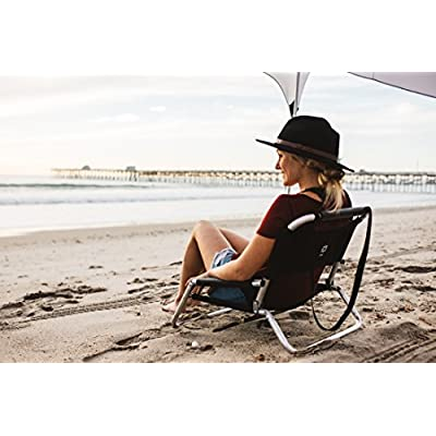2 Pack of Neso Lightweight Water Resistant Beach Chairs with Shoulder Strap and Slip Pocket - Folds Thin(Black) : Sports & Outdoors