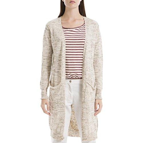(Max Studio Womens London Open Front Duster Sweater Beige S)