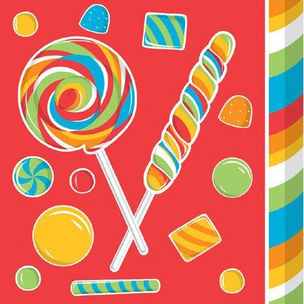 16-Count Paper Beverage Napkins, Sugar Buzz -