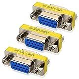 Cable Matters 3-Pack HD15 VGA Coupler/SVGA Coupler (VGA/SVGA Female to VGA/SVGA Female Coupler)
