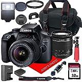 Photo : Canon EOS 4000D DSLR Camera w/Canon EF-S 18-55mm F/3.5-5.6 III Zoom Lens + Case + 32GB SD Card (15pc Bundle)