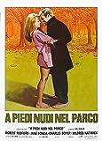 Barefoot in the Park Poster Italian 27x40 Robert Redford Jane Fonda Charles Boyer