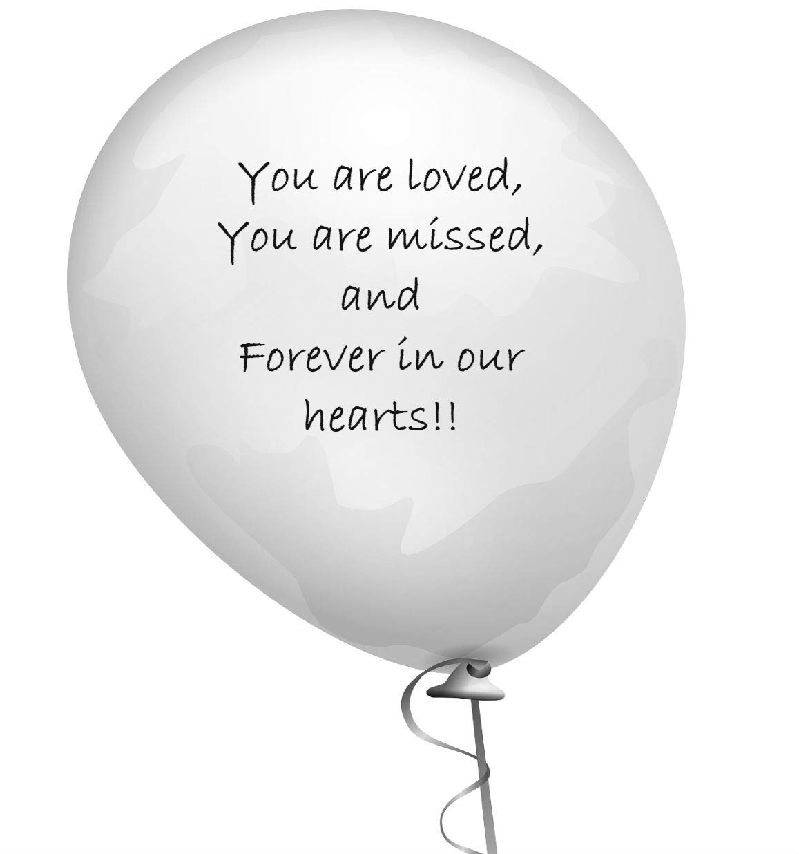 Celebration of life Remembrance Memorial Funeral balloons Sympathy Helium Balloons 3.2 grams High quality 25 pc Elcer