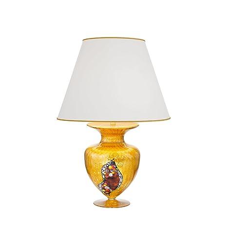 Kolarz estilo modernista Lámpara de mesa (Oro, jarrón, con ...