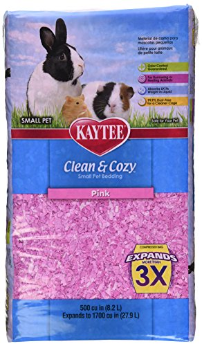 UPC 071859947556, Kaytee Clean and Cozy Bedding, 500 Cubic Inch, Pink