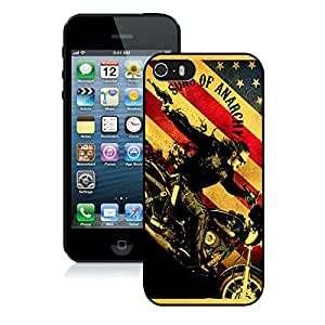 For iPhone 5S,100% Brand New Sons Of Anarchy TV Series Black For iPhone 5S Case