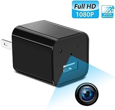 HD 1080P USB Wall Charger Hidden Spy Mini Camera DVR Loop Recording LOT Better