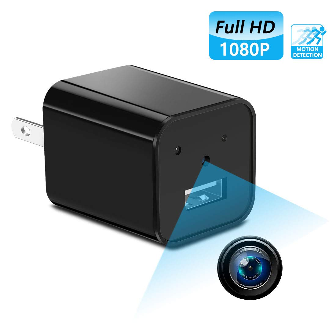Mini Hidden spy Camera,Full HD 1080P Hidden spy Camera Charger with Video Record and Motion Detection for Home,Office Use No Wi-Fi Needed