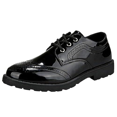 Zapatos Hombre Vestir,Zapatos Hombre Deportivos,Calzado Lustrado De Color Four Seasons Brock para Hombre Zapatos Cuero Charol BritáNico: Amazon.es: ...
