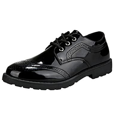25bf402a4adef Amazon.com: Mens Oxford Patent Leather Shoes,Realdo Men's Polished ...