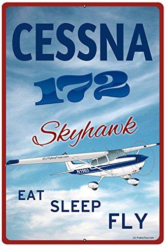 cessna-172-skyhawk-blue-custom-hd-metal-airplane-sign-eat-sleep-fly