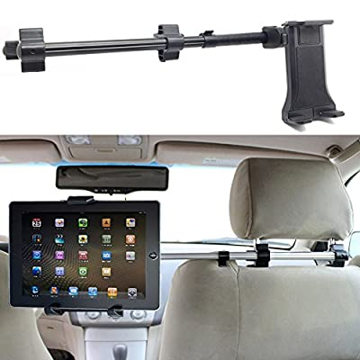 ChargerCity Premium Center Extension Car Seat Headrest Mount w/ Universal Tablet Cradle Holder for Apple iPad Air Pro Mini Nexus Samsung Galaxy Tab Microsoft Surface Pro (Fits All 7 - 12 inch screens) from ChargerCity