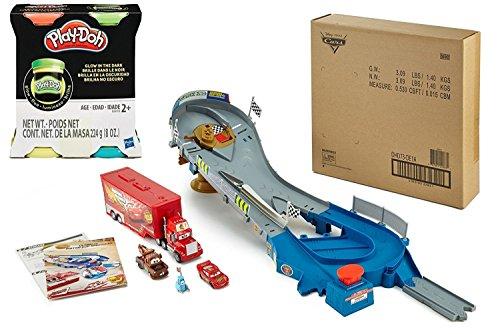 Mcqueen Piston Cup (Disney Pixar Car Speedway Piston Cup, Bundle with Bonus Play-Doh Glow In The Dark 2oz)