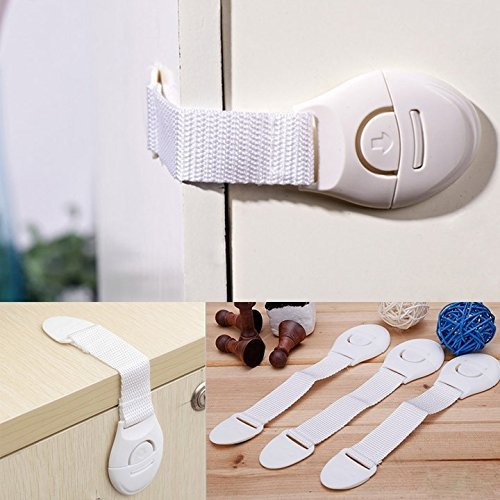 KEANER 5Pcs Child Pet Safety Lock Latch for Fridge Toilet Drawer Cabinet Cupboard Door