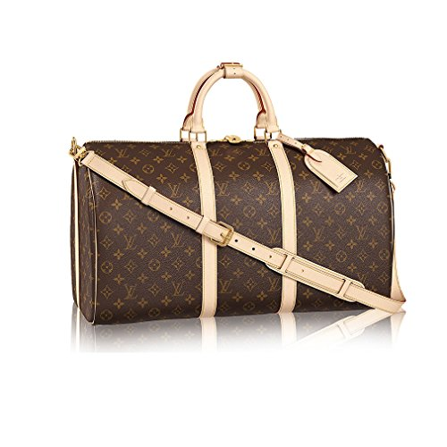 Louis Vuitton Monogram Canvas Cross Body Handle Keepall Bandoulière 50 Made in France - Louis Vuitton Canvas Luggage Set