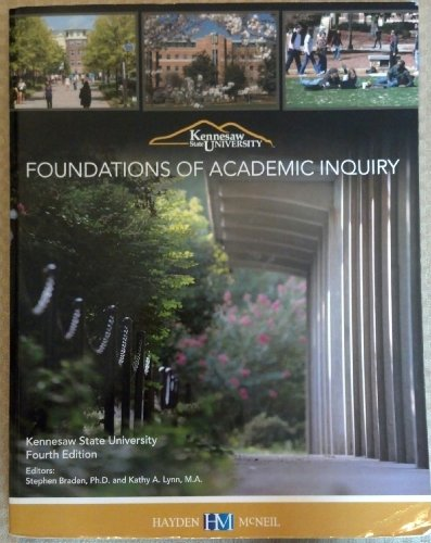 Foundations of Academic Inquiry Custom Kennesaw State University