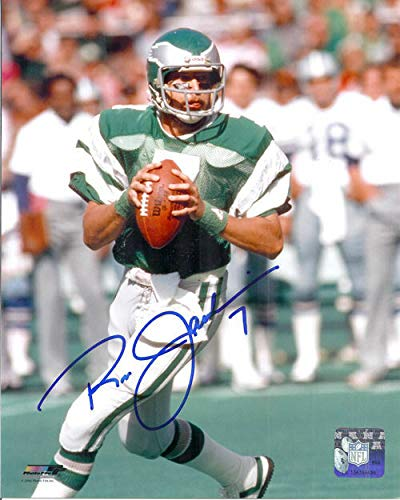 (Ron Jaworski Autographed Philadelphia Eagles 8x10 Photo (vertical passing))