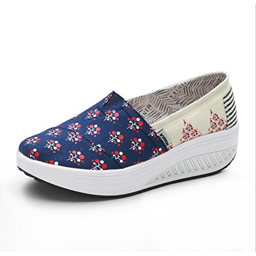 XUE Women's Shoes Canvas Spring Fall Loafers & Slip-Ons Driving Shoes Fitness Shake Shoes Shake Shoes Shaking Shoes Flat Loafers Sneakers Athletic Shoes Platform Shoes (Color : A, Size : 36) B
