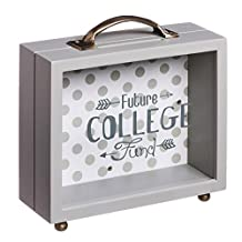 B. Boutique College Fund Wooden Shadow Box Bank
