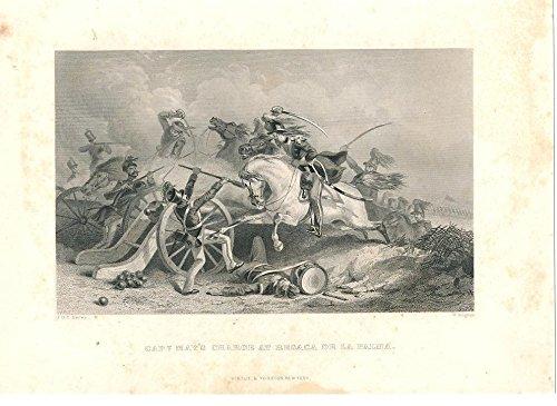 - Capt. May at Battle of Resaca de la Palma Mexico ca. 1860 nice old antique print