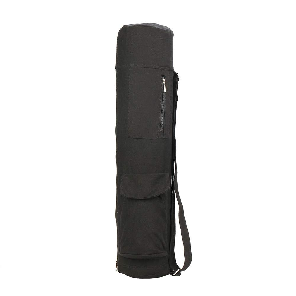 Yoga Mat Bag Functional Storage Expandable Zip Pocket,Yoga Strap and Exercise Mat MAT Cover Full Zip Carry Bag with Multiple Pockets Storage Area Adjustable Strap Best Bags for Yoga Cotton Mats