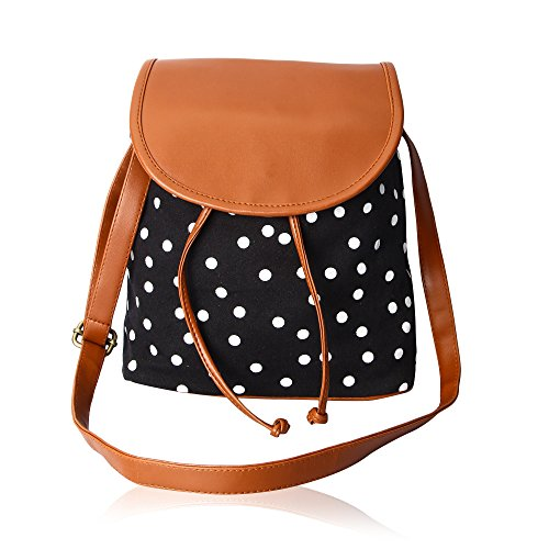 Kleio Polka Dots Canvas Slingbag For Girls/Women