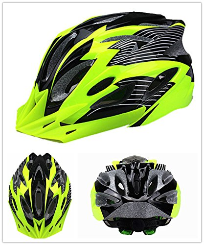 Bormart Cycling Bike Helmet,Lightweight Adult Bike Helmet with Removable Visor Specialized for Men Women Mountain Bicycle Road Safety Protection (black+green)