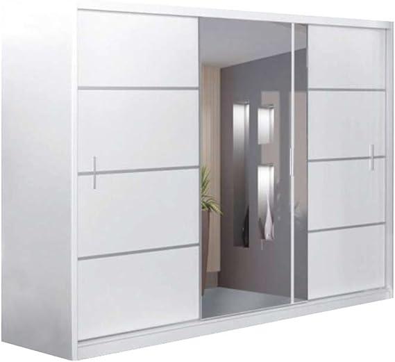 JUSTyou Vista 250 Armario Blanco Mat/Espejo Tamaño 215x250x61 cm ...
