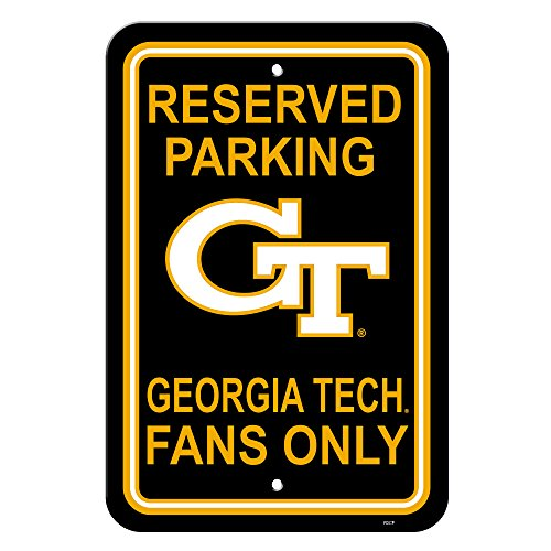 NCAA Georgia Tech Yellowjackets 12-by-18 inch Plastic Parking Sign