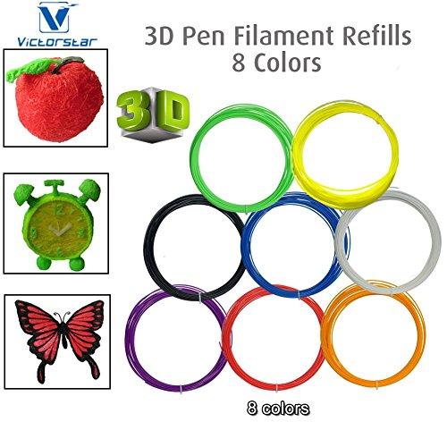 Victorstar 8 rotoli 8 colori 3d penna a incandescenza for Disegno 3d free