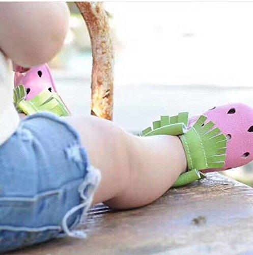 Bebila Tassel Hollow Soft Leather Baby Shoes Bebe Cute Fruit Moccasins Yellow 0-24months