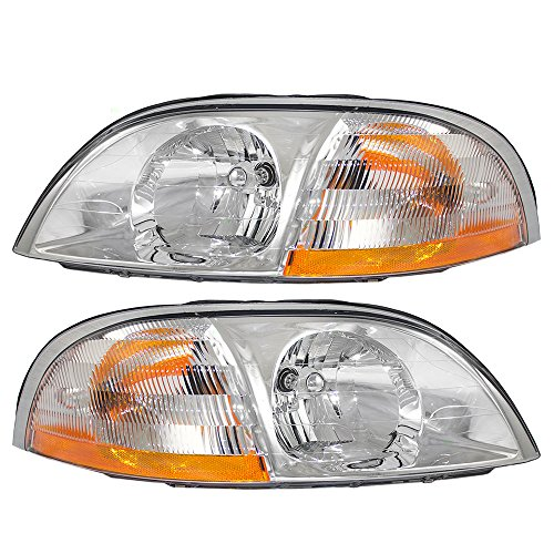 Driver and Passenger Headlights Headlamps Replacement for Ford Van XF2Z13008BA 3F2Z13008CA AutoAndArt ()