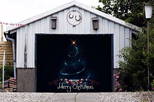 Christmas Tree For Single Car Garage Door Murals Covers Outdoor