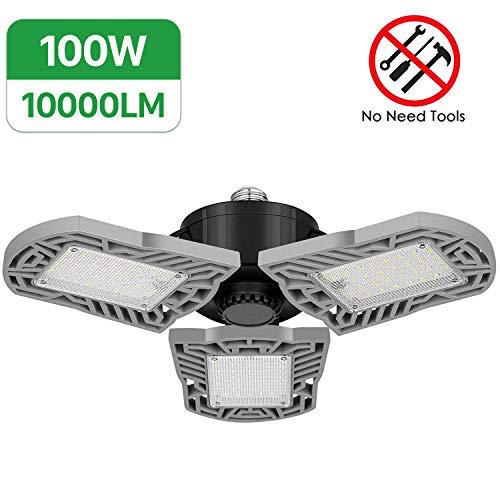 100W LED Garage Lights, 10000Lumens Deformable