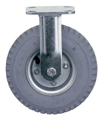Quantum Storage Systems PT-NR 2-1/2'' Diameter Pneumatic Wheel One Rigid Plate Caster, 325 lbs Capacity