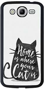 Funda para Samsung Galaxy Mega 5.8 (i9150) - El Hogar Es Donde Su Gato Es by Asmo